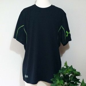 Under Armour Loose Fit T-Shirt; Black/Green; L
